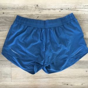 NWT! LuluLemon Ocean Blue Lined Running Shorts